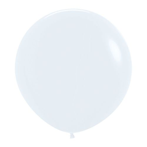 "Fashion Colour Solid White 005 Latex Balloons 24""/60cm - 3 PC"